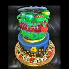 #tmnt teenage mutant ninja turtle cake #fondant #pizza
