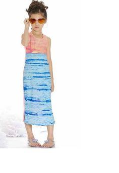 46a7d9bf1076 NWT Kate Mack girls size 4 5 6 Sunset Beach Maxi dress  KateMack  CoverUp