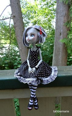 Frankie on a Fence | Frankie is a custom monster high doll, … | Flickr
