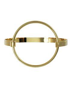 Gold Circle Hinge Cuff