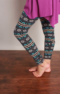 Funky Monkey GirlsFleece Lined Leggings | Jane