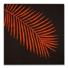 American Signature Furniture - Orange Palm Decorative Accents Canvas Print $149.99