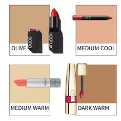A guide to the best lipstick shades for various skin tones! #how-to #beauty #skin-tones #lipstick #makeup #beauty