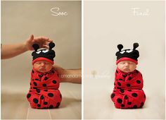 cute little bug.  Just swaddle them in the wrap and viola!
