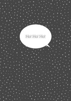Postkarte Weihnachten -  HOHOHO