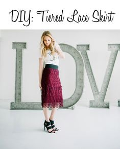 DIY Tiered Lace Skirt // While Camden Sleeps