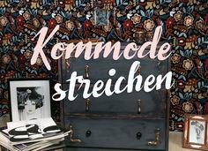 So wird aus Eurer Ikea Kommode ein glamouröses Unikat: Used Look Möbel selber machen - kreativ und individuell in den Farben Kupfer und Schwarz.