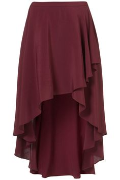 Topshop | Oxblood Wrap Front Calf Skirt #IONshadesoffall