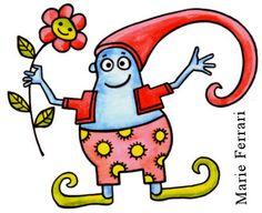 lutin illustration pour enfant - kid art © Marie Paule Ferrari