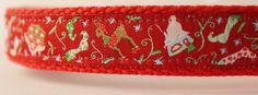 Christmas Themes Dog Collar/Adjustable/Holiday Pet Collar/Pet
