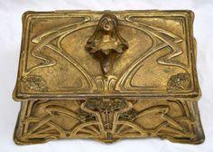 www.italialiberty.it/theworldartnouveau | MAGNIFICENT-19C-ART-NOUVEAU-FRENCH-BRONZE-BOX-SIGNED