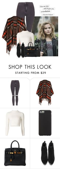 """revolution."" by sticthen ❤ liked on Polyvore featuring Hasson, Topshop, Maison Margiela, Case-Mate, Hermès, waves, fanfiction, maddiehasson and CharliePuth"