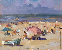 "Seascape ""Summer Parasols"" Roos Schuring"