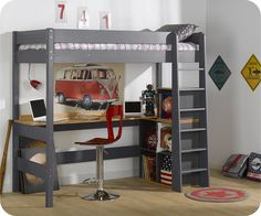 Lit Bureau Mezzanine Lit Suraclevac Bureau Lit But Lit Combine But Lit Combine Ado Lit Bed With Desk Underneath, Bedroom Decor, Chair, Inspiration, Furniture, Home Decor, Interiors, Sweet, Kids