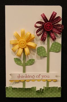 Ribbon Card.But I can just do the pic and leave out the card. I love the ribbon flowers.   Might be difficult to fit into an envelope . . .