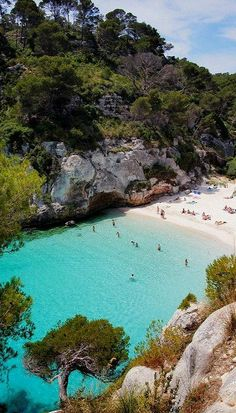 The sun-bleached shore of Menorca, Spain. Be sure to click the link to read all about this wonderful place!