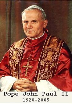 Blessed Pope John Paul II ~ Santo Subito - and YES soon to be Saint John Paul by all accounts!   Wish we could all throw a huge party dearest Pinners!
