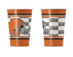 TWENTY (20) CLEVELAND BROWNS 16oz REUSABLE PAPER CUPS FROM DUCK HOUSE SPORTS #DuckhouseSports #ClevelandBrowns