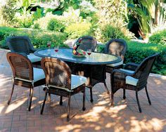 Superbe Patio Key West Dining Set From South Sea Rattan Oval Dining Tables, Dining  Sets,