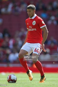 Ruben Dias of SL Benfica in action during the Emirates Cup match between RB Leipzig and SL Benfica at Emirates Stadium on July 30, 2017 in London, England.