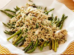 Mushroom Barley and Roasted Asparagus Salad recipe from Food Network Kitchen via Food Network