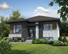 Empty-Nester House Plan with Modern Details; Narrow Lot House Plans, Best House Plans, Contemporary Style Homes, Contemporary House Plans, Modern Homes, One Story Homes, Architectural Design House Plans, Build Your Dream Home, Story House