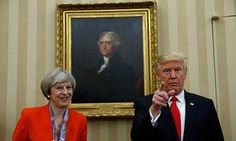 Donald Trump and Theresa May in the Oval Office, 27 January 2017
