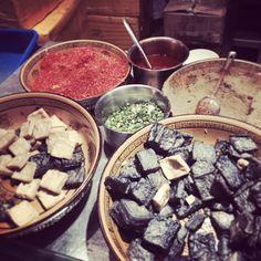 Tofu - street market- Chengdu, China