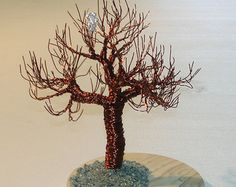 Wire Tree Art on Sea Glass by TheRestoreInc on Etsy