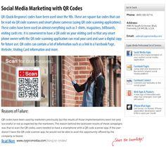 Social Media Marketing with QR Codes  http://www.cygnismedia.com/blog/qr-codes/