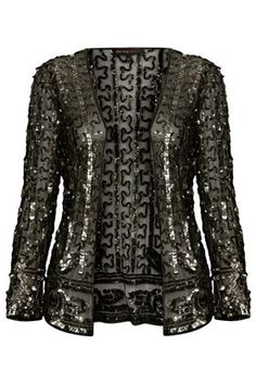 **Sequin Embellished Mesh Jacket by Kate Moss for Topshop - Jackets & Coats - Clothing