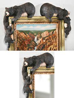Bear Corner Huggers Woodland Decoration bedroom on doorway