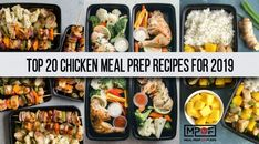 The Top 20 Chicken Meal Prep Recipes for 2019 - Meal Prep on Fleek™ Chicken Meal Prep, Banana Oatmeal Chocolate Chip Cookies, Paleo Meal Plan, Keto Meal, Macro Meals, Mediterranean Diet Recipes, Butter Chicken, Chicken Bites, Crispy Chicken