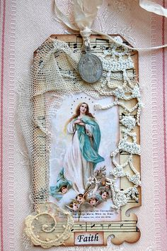 Make one that you can see he back of the card too for someone special to you.  For a memory book.