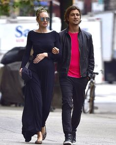 pregnant Candice Swanepoel and her boyfriend Hermann Nicolli