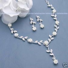 Cheap Pearl Sets for Bridesmaids | BRIDAL NECKLACE SET WEDDING BRIDESMAID GIFT Jewelry PEARL CRYSTAL ...