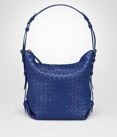 5b52329b47c7 Cobalt Intrecciato Nappa Medium Osaka Bag