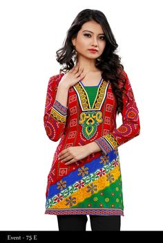 Multicolor Crepe Printed Indian Traditional Kurti - Crepe Kurtis / Tunics Manufacturer & Exporter | Kurtisindia-------------One can see and buy our products from our official website that is http://www.kurtisindia.com/ We have wide varities of Indian Kurtis such as American Crepe Printed Kurtis, Chiffon Kurtis, Cotton Kurtis, Digital Printed Kurtis, Embroidered Kurtis and French Crepe Kurtis.