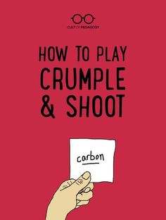 How to Play Crumple & Shoot - This high-energy, low-tech game can be used in any subject area at Instructional Strategies, Teaching Strategies, Teaching Tips, Teaching Techniques, Class Games, School Games, Student Games, Middle School Classroom, Science Classroom
