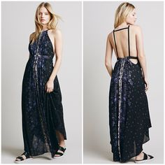 X Free People Caught in the Moment Maxi Dress Backless Free People maxi dress. Flowy and beautiful. Brand new. Bundle price is 95. Free People Dresses Maxi