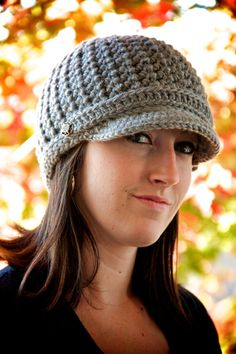 Women's Brimmed Beanie by OliJAccessories on #Etsy, $25.00 | Support handmade and gorgeous fashion, friends!