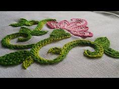 Este bordado lo puedes usar en hojas, pétalos o plátanos,,