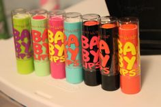 Baby Lips! I got the two pink shades from the Electro collection! :)