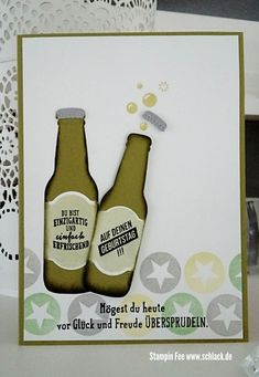 stampin occassions 2018 sale a bration bottles & bubbles bubbles over für dich flaschen Bier beer
