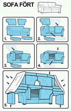 build a sofa or couch fort with your kids