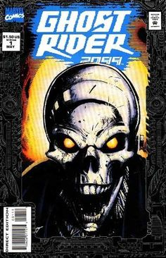 Zero Cochrane's consciousness is transferred into a Ghost Rider robot.Part of marvel's extensive series of 2099 titles. #1 May 1994