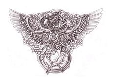 Celtic Phoenix Shaded by Feivelyn on DeviantArt Celtic Pride, Celtic Symbols, Celtic Art, Celtic Knots, Norse Tattoo, Celtic Tattoos, Viking Tattoos, Stag Tattoo, Art Viking