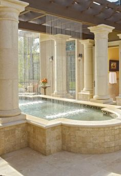 Amazing Small Indoor Pool Design Ideas 18 image is part of Amazing Small Indoor Swimming Pool Design Ideas gallery, you can read and see another amazing image Amazing Small Indoor Swimming Pool Design Ideas on website Indoor Pools, Small Indoor Pool, Outdoor Pool, Lap Pools, Indoor Outdoor, Dream Bathrooms, Dream Rooms, Beautiful Bathrooms, Luxury Bathrooms