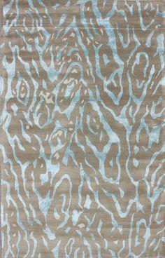 Satara Montara Zebra Print Sky Rug   Contemporary Rugs