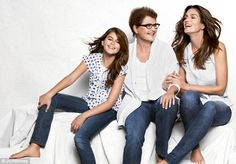 Image detail for -Cindy Crawford Posing With Her Mother And Daughter — StyleFrizz